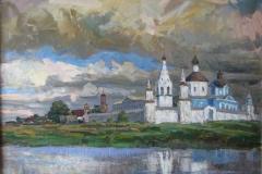 Бобренёв-монастырь-2010-г.-67х65холст-масло