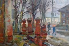 Канева-Елена-В-Переславле-дождь-2018г-60х80-х.м.