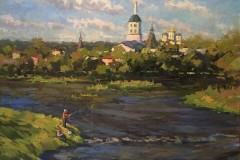 "МИХНО-АЛЕКСАНДРА-СЕРГЕЕВНА""Рыбаки-на-Протве""-60х80-х.м.-2017-г."