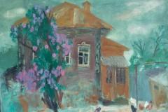 Скачкова-Ирина-АлександровнаИзумрудный-вечер2010-хм-60х80